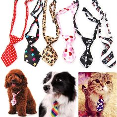 Pet Dog Cat Puppy Kitty Adjustable Necktie Adorable Bow Tie Collar Pet Accessory