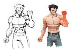 HeroChan — The Wolverine Created by Dan Mora Marvel Comics, Hulk Marvel, Avengers, Wolverine Character, Wolverine Art, Character Modeling, Character Art, Character Design, Comic Book Characters