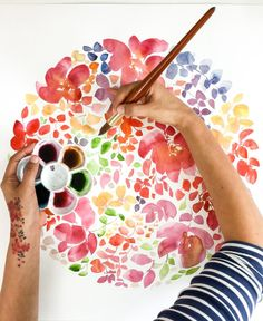 A watercolor floral wonder.