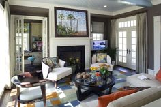 Mitch Ginn design - 2006 Southern Living Idea House Family Room  www.mitchginn.com