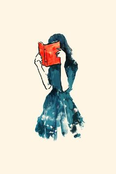 Silhouette lesendes Mädchen lesendes Mädchen silhouette stacks - Fushion News Reading Art, Woman Reading, Reading Books, Reading Quotes, I Love Books, Books To Read, Illustrations, Illustration Art, Creative Illustration