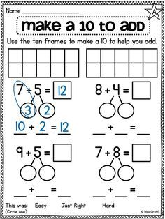 47++ Make a ten to add worksheet For Free
