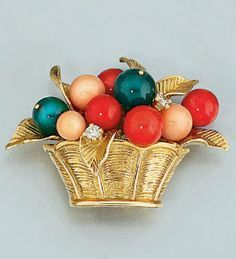van cleef fruit basket brooch #vancleef