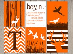 Hunter Nursery Art - Duck room art - Kids Wall Art - Boy defintion - duck - deer- hunter nursery- birch tree with deer - boys room