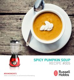 Monday night dinner shouldn't be a fuss. Try our easy weeknight dinner suggestion: Spicy Pumpkin Soup with croutons and crispy fried onions. #SoupWeek .   Ingredients 900g pumkin 2 leeks, trimmed and sliced 900ml chicken or vegetable stock 2 tbsp vegetable oil 2 cloves garlic, crushed 1 tsp ground ginger 1 tsp ground coriander Bunch of fresh coriander leaves 2 tbsp single cream or crème fraiche Salt and pepper