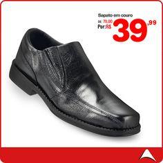 Sapato Social em couro de R$ 70,00 por R$ 39,99! Imperdível!!!  Cores: Preto Tamanhos: 37 ao 43 Código do Produto: 0213046203 ------------------------------------------------------------------  >>Estamos funcionando de Segunda a Sábado<<  Endereços:Rua Domingo de Moraes, 413 Ana Rosa - Tel:(11) 3213-8327 Horário:das 10:00 as 19:30.  Rua Vergueiro,48 - São Joaquim - Tel:(11) 2339-6282 das Horário:das 10:00 as 21:30.  Rua Xavantes,41 - Brás -Tel: (11) 2692-7524 Horários:das 10:00 as 18:00.