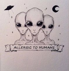 Imagem de alien, humans, and allergic