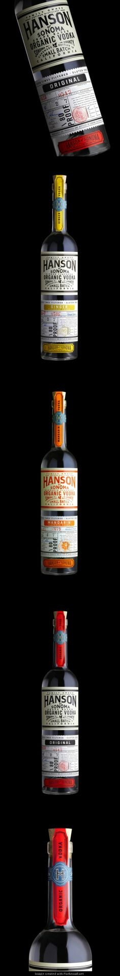 Hanson of Sonoma organic vodka designed by Stranger & Stranger