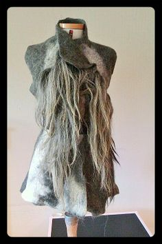 Vest made from Drenth sheepwool. Every piece is unique. Made by Atelier 87, see Facebook