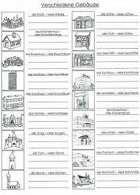 Deutsch lernen: Verschiedene Gebäude