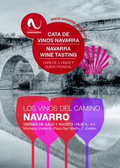 Los vinos del camino navarro.Catas viernes, julio y agosto en Estella, Navarra para peregrinos y visitantes.