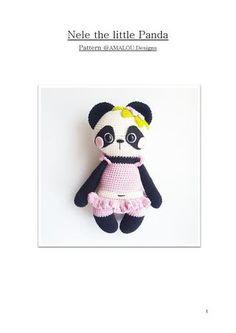 Amalou designs, nele the little panda  Zoo Állatkerti játékok, horgolva.