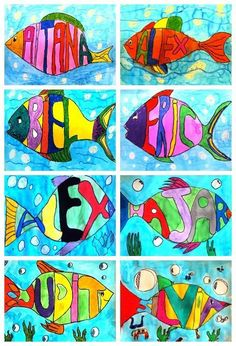Art fish name Art class elementary school Fish art art class elementary . Name Art Projects, School Art Projects, Art School, Acrylic Painting Canvas, Abstract Canvas, Arte Elemental, Kandinsky Art, Spring Coloring Pages, Fantasy Kunst