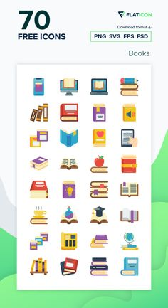 70 Books icons for personal and commercial use. Basic Miscellany Flat icons. Download now free icon pack from Flaticon, the largest database of free vector icons. #Flaticon #icons #teacher #education #school #college