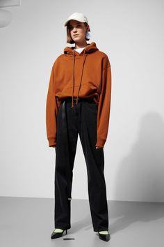 Model side image of Weekday ailin hooded sweatshirt in beige Hooded Sweatshirts, Hoodies, Mom Jeans, Rain Jacket, Windbreaker, Beige, My Style, Fitness, Sleeves