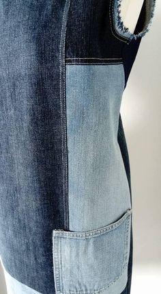 Upcycled jeans dress / Denim dress / Recycled jeans dress /