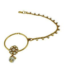 Buy Indian Traditional Bridal Nose Ring in Neutral Color nose-ring online