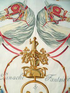 *PANACHE & FANTAISIE* HERMES Paris Rare collectible SCARF vintage Horses Parade