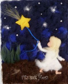 Felted Soap, Needle Felted, Wet Felting, Christmas Arts And Crafts, Waldorf Crafts, Felt Pictures, Peyote Stitch Patterns, Felt Fairy, Wool Art