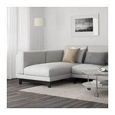 NOCKEBY Loveseat with chaise, left, Tallmyra white/black, wood - left/Tallmyra white/black - wood - IKEA