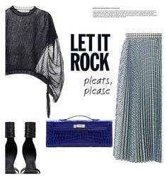 """pleats, please"" by gabrielleleroy ❤ liked on Polyvore featuring MSGM, Rick Owens, Marni, Hermès, contest, pleats and polyvoreeditorial"