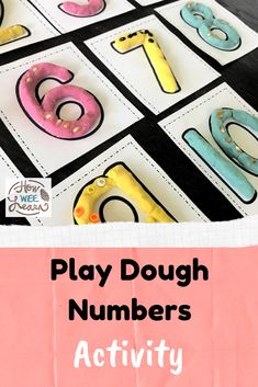 So good for helping kids learn all about numbers and a great sensory activity too! Love this play dough numbers activity. Playdough Activities, Number Activities, Counting Activities, Kids Learning Activities, Busy Boxes, Printable Numbers, Play Dough, Toddler Preschool, Early Learning