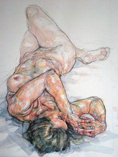 Por amor al arte: Sylvie Guillot Figure Painting, Figure Drawing, Painting & Drawing, A Level Art, Anatomy Art, Life Drawing, Erotic Art, Art Techniques, Figurative Art