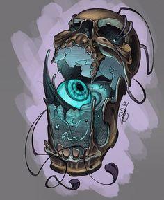Tattoo Sketches, Tattoo Drawings, Art Sketches, Art Drawings, Skull Tattoos, Body Art Tattoos, Dark Art Paintings, Japanese Tattoo Art, Desenho Tattoo