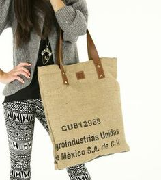 Salento Reversible Coffee Sack Tote