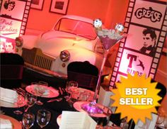 Get Lots of Fun With Grease Themed Party : Grease The Movie Themed Party. Grease the movie themed party. Grease Themed Parties, 50s Theme Parties, Party Themes, Birthday Parties, Party Ideas, Grease Musical, Summer Reading Program, Party Activities, House Party