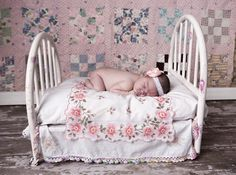$95 Iron doll bed fits standard size bed pillow