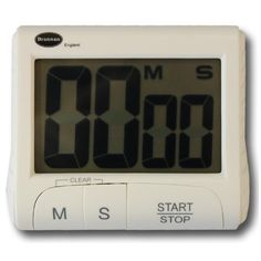 Large digital countdown timer covering 99 minutes 59 Seconds. The timer countdown timer is supplied with stand, clip and magnetic fixing. Batteries included.