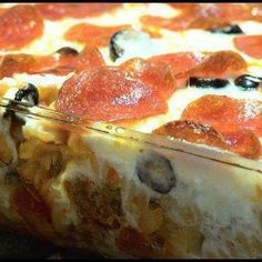 Pizza Casserole- use spaghetti squash in stead of pasta to make it low carb