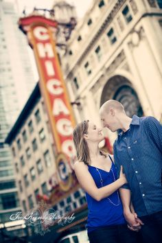 Engagement Shoot - Downtown Chicago, Chicago Theater