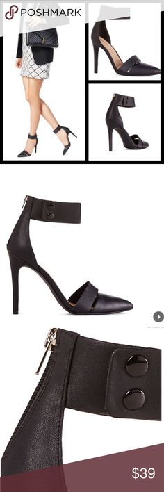 """Kim Kardashian Style Sexy cut-out zip-up high heel Kim Kardashian Style. The quintessential-cool pump,👠features a double snap strap & a sexy cutout at the toe with a functional back zipper 👠Approx. Heel Height: 4"""". NWOT JustFab Shoes Heels"""