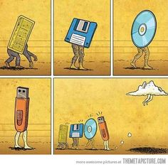 The Evolution of Data Storage…