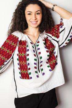 #fashion #style #romania #brand #romanian #motifs #spring #summer #colorful… Folk Fashion, Ethnic Fashion, Folk Embroidery, Modern Embroidery, Kinds Of Fabric, Mexican Dresses, Traditional Fashion, Christmas Sweaters, Folk Style