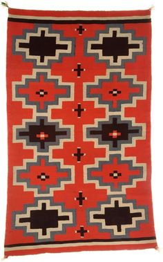 American Indian Art:Weavings, A NAVAJO GERMANTOWN WEAVING. c. 1900...