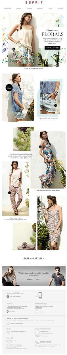 #newsletter Esprit 06.2014 Ready for summer?