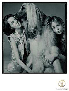 Vika Falileeva,Agnes Nabuurs featured in the                     Russh editorial....and the beautiful dog's name?