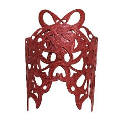 """Cut Out Butterfly Cuff; 3.5""""L; Rose Faceted Finish; Bends To Fit Eileen's Collection. $19.99. Save 50% Off!"""