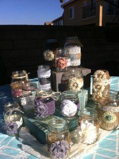 RUSTIC WEDDING DECOR. 25 Bulk Burlap Lace Mason Jars for Wedding and Cottage Decor. Head Table Decor, Wedding Centerpieces Wholesale. $168.75, via Etsy.