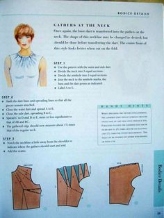Dart - neckline - top women COTURAR - costurar com amigas - Picasa Webalbums Mccalls Patterns, Dress Sewing Patterns, Clothing Patterns, Bodice Pattern, Collar Pattern, Techniques Couture, Sewing Techniques, Pattern Cutting, Pattern Making