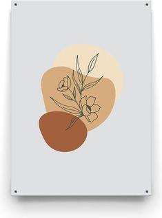 Geniet optimaal van de zomer in eigen tuin en geef het een extra gezellig en knusse uitstraling met het minimalistische Floral Abstract design van Made on Friday. Abstract, Modern Design, Floral, Summary, Contemporary Design, Florals, Flower, Flowers