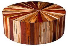 Starburst Coffee Table, Maple/Multi