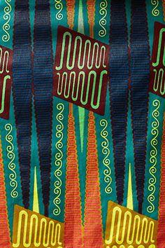Legend And Song Dutch Wax Pencil Skirt via Anthropologie
