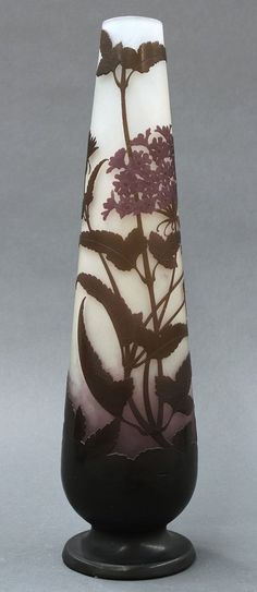 Emile Galle Art Nouveau tall cameo glass vase✖️No Pin Limits✖️More Pins Like This One At FOSTERGINGER @ Pinterest✖️