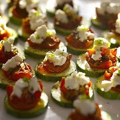 Want a way to use your summer squash? Try these Crunchy Zucchini Rounds With Sun-Dried Tomatoes and Goat Cheese | Health.com