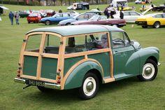 Morris Traveller, Morris Minor, First Car, Antique Cars, Woody, Vehicles, Classic Cars, British, Vintage