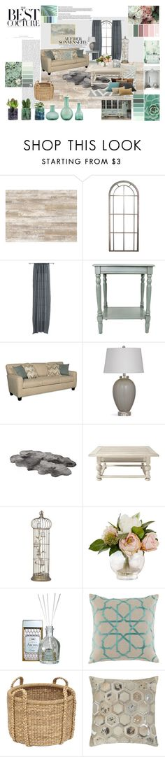 """Blue, White and Green"" by eve4ever ❤ liked on Polyvore featuring interior, interiors, interior design, home, home decor, interior decorating, CB2, ExceptionalSheets, Ellington and Aroma"